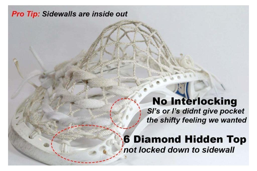 six diamond lacrosse mesh by lax room