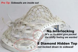 six diamond lacrosse mesh