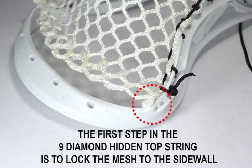 first step diamond hidden top string
