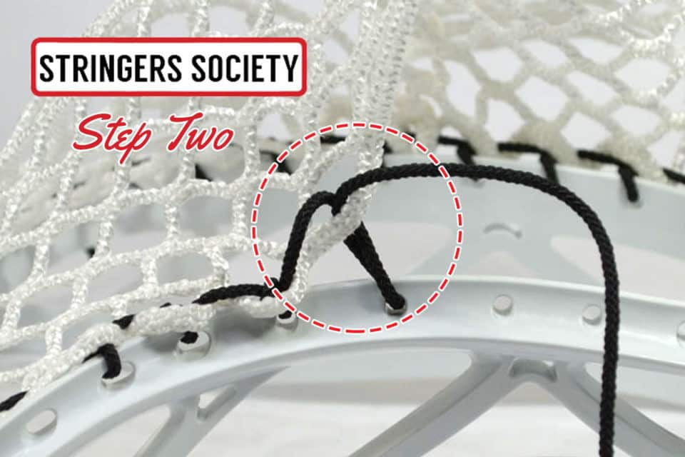 SI lacrosse knot step two