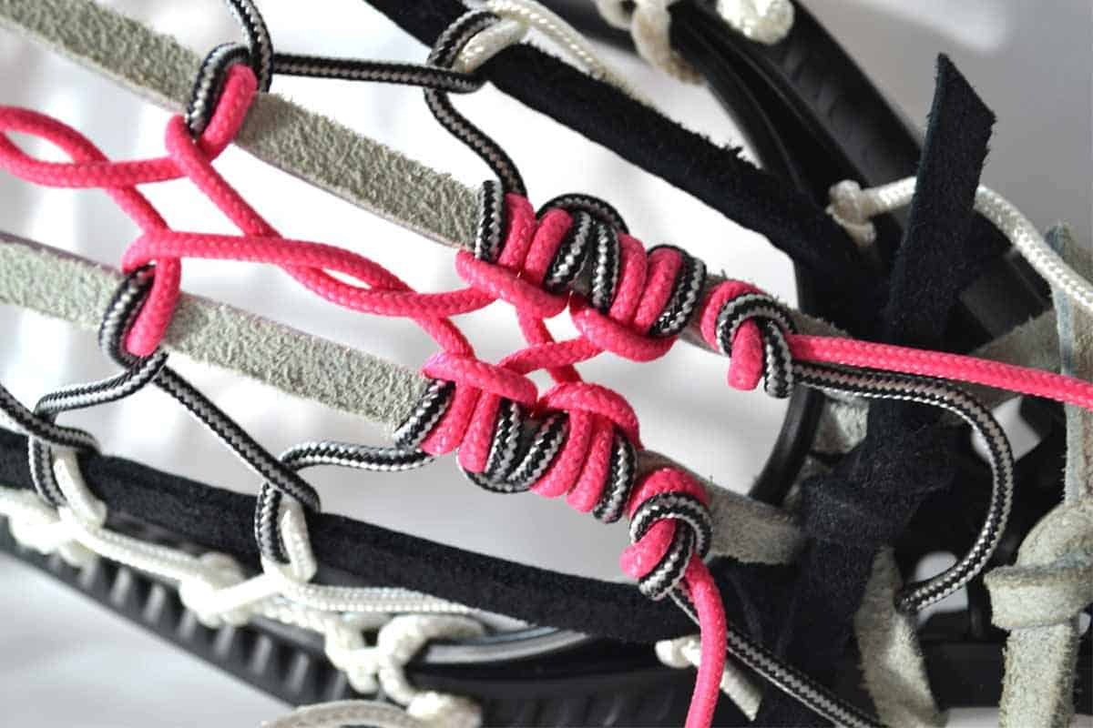 Ten Minute Traditional,traditional lacrosse stringing,traditional lacrosse