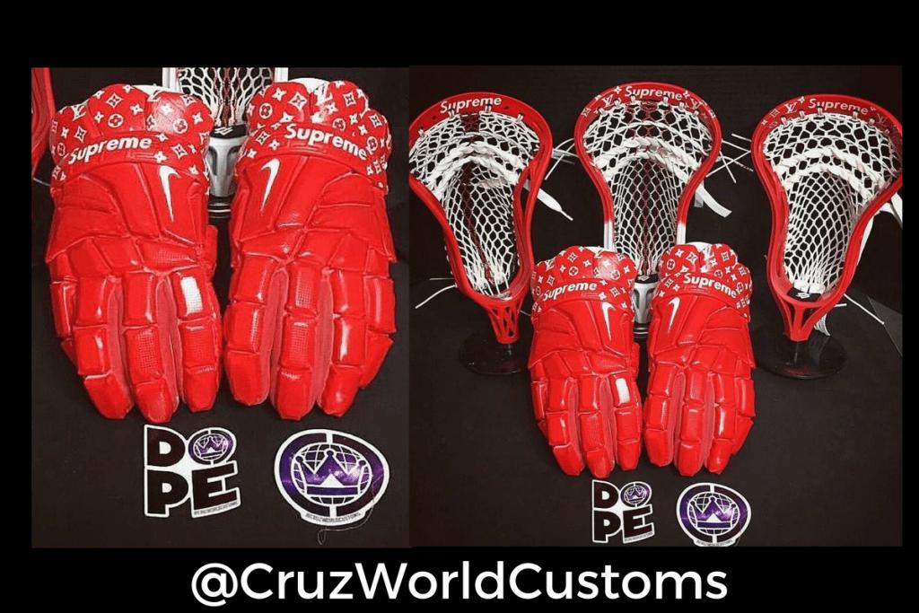 supreme lacrosse | cruzworldcustoms supreme lacrosse heads gloves
