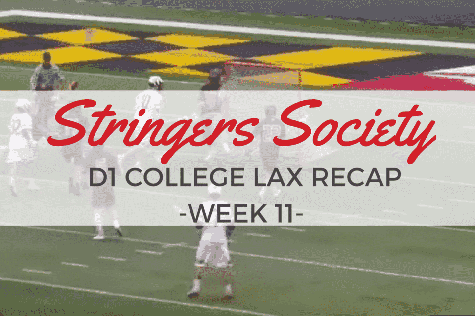 D1 College Lacrosse Scores and Highlights – Week 8