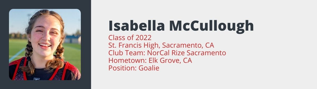 Isabella McCullough  Lacrosse Highlights
