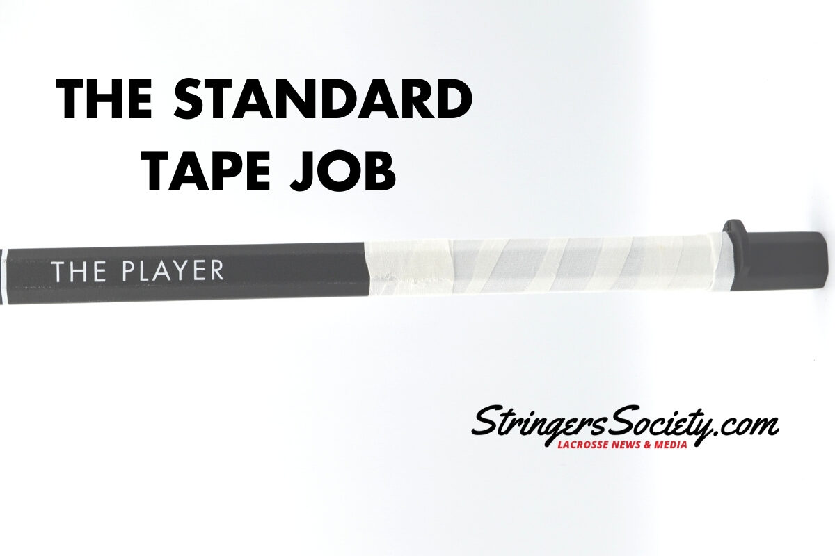 how to tape a lacrosse stick