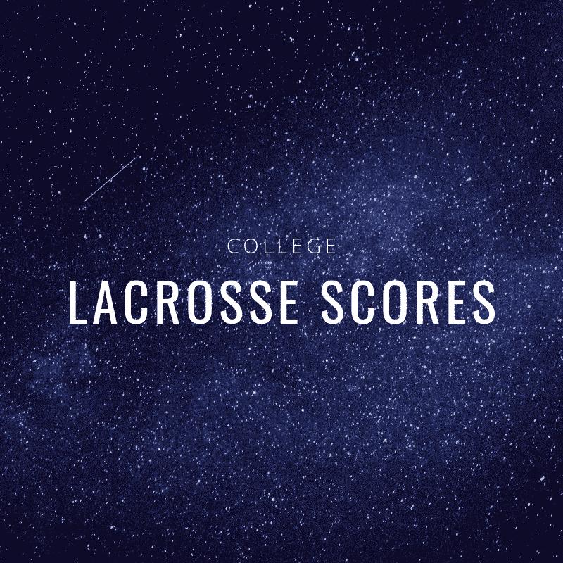 lacrosse scores
