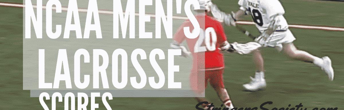 ncaa men's lacrosse scores week 6