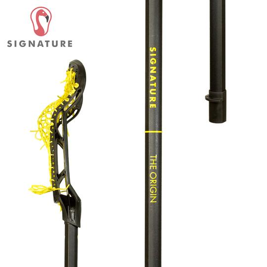 Signature Complete Universal Women's Lacrosse Stick Black with Yellow Mesh